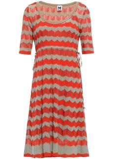 M Missoni Woman Crochet-knit Dress Bright Orange