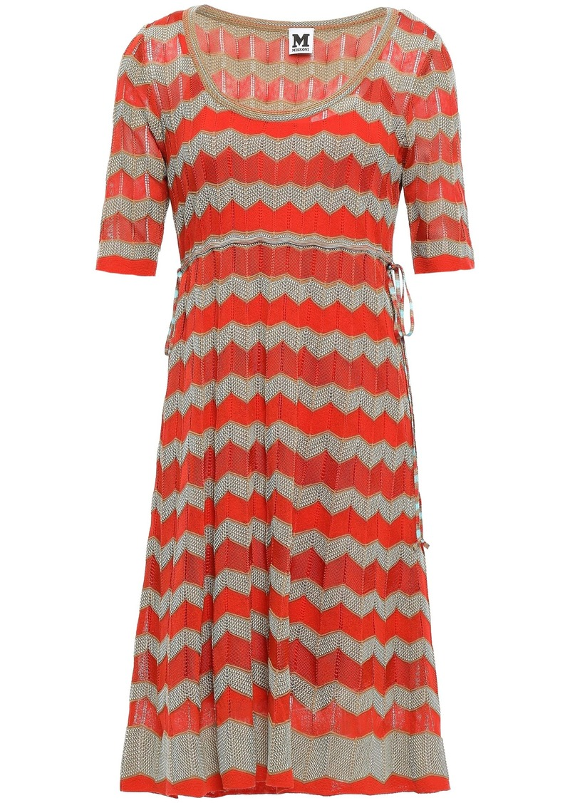 M Missoni Woman Crochet-knit Dress Bright Orange