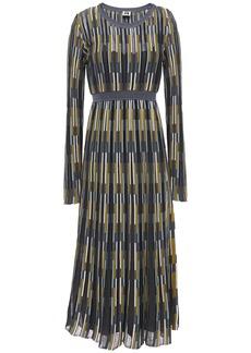 M Missoni Woman Crochet-knit Midi Dress Dark Gray