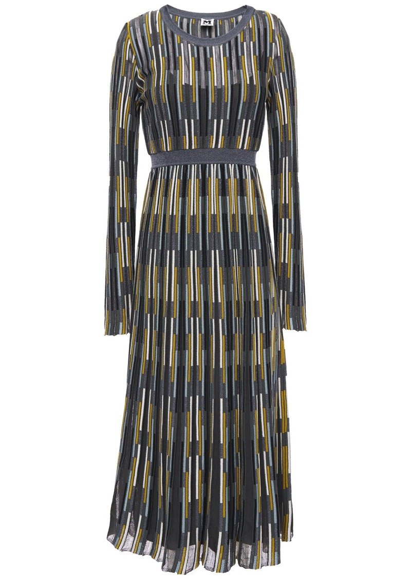 M Missoni Woman Crochet-knit Midi Dress Dark Gray