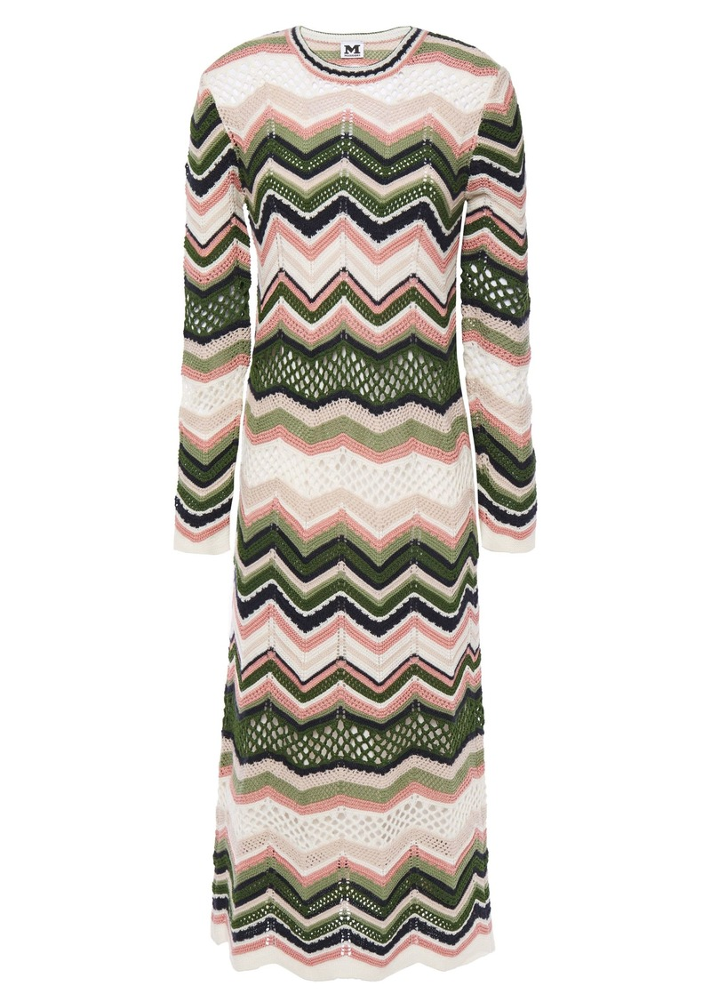 M Missoni Woman Crochet-knit Midi Dress Ivory
