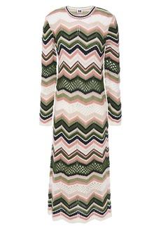 M Missoni Woman Crochet-knit Midi Dress Ivory