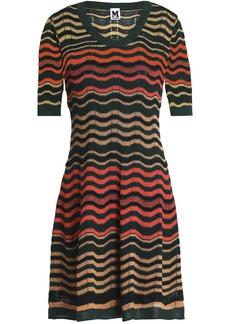 M Missoni Woman Crochet-knit Mini Dress Dark Green