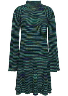 M Missoni Woman Crochet-knit Mini Dress Emerald