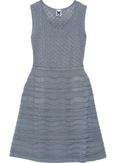 M Missoni Woman Crochet-knit Mini Dress Storm Blue