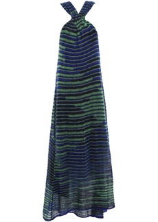 M Missoni Woman Crochet-knit Mohair-blend Maxi Dress Royal Blue
