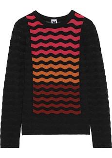 M Missoni Woman Crochet-knit Sweater Black