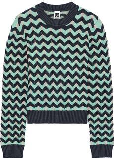 M Missoni Woman Crochet-knit Sweater Navy