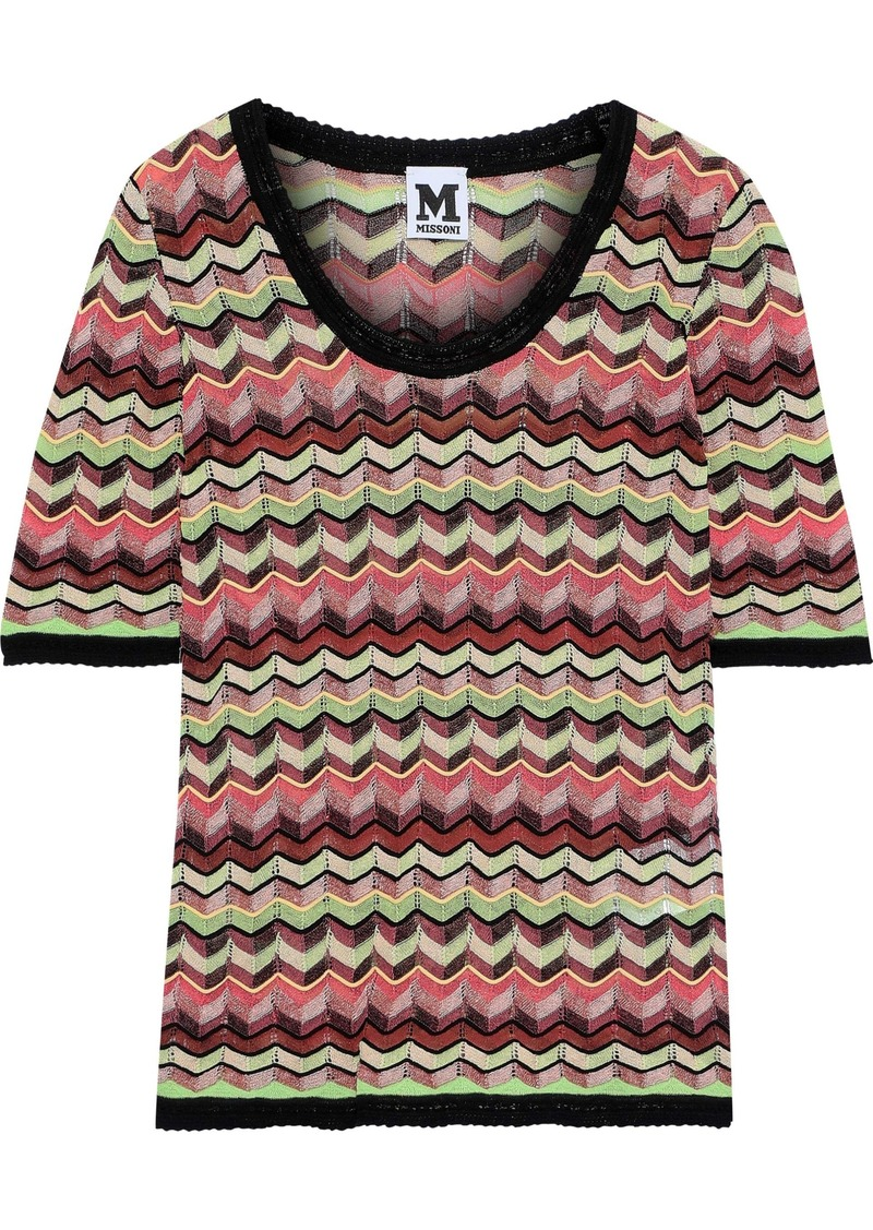 M Missoni Woman Crochet-knit Top Multicolor