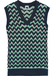 M Missoni Woman Crochet-knit Top Navy