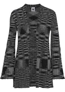 M Missoni Woman Crochet-knit Wool-blend Cardigan Black