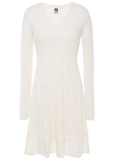 M Missoni Woman Crochet-knit Wool-blend Dress Off-white