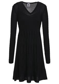 M Missoni Woman Flared Crochet-knit Wool-blend Dress Black