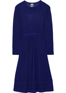 M Missoni Woman Crochet-knit Wool-blend Dress Indigo