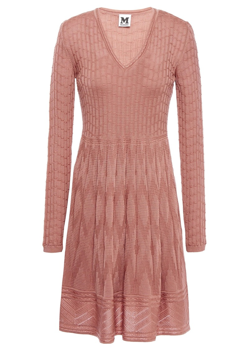 M Missoni Woman Crochet-knit Wool-blend Dress Antique Rose