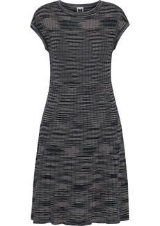 M Missoni Woman Crochet-knit Wool-blend Dress Midnight Blue