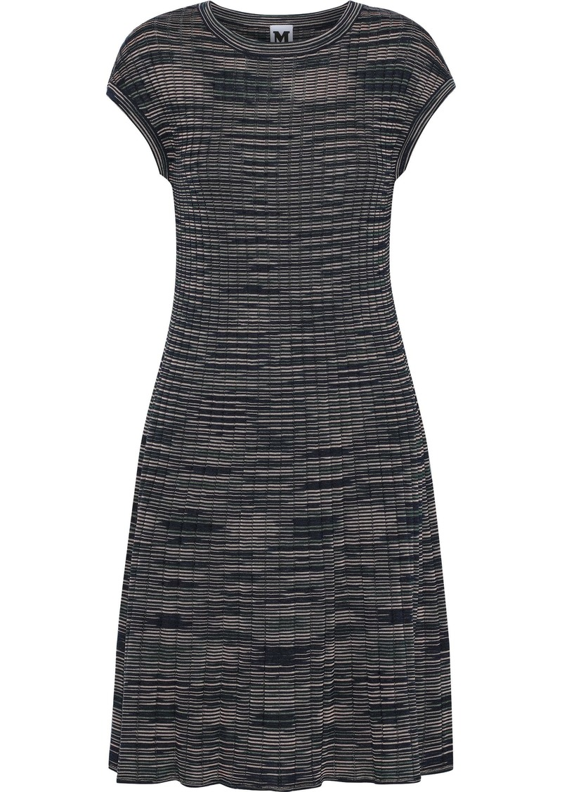 M Missoni Woman Crochet-knit Wool-blend Dress Midnight Blue