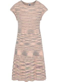 M Missoni Woman Crochet-knit Wool-blend Dress Pastel Pink