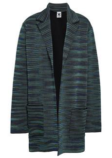 M Missoni Woman Crochet-knit Wool-blend Jacket Petrol
