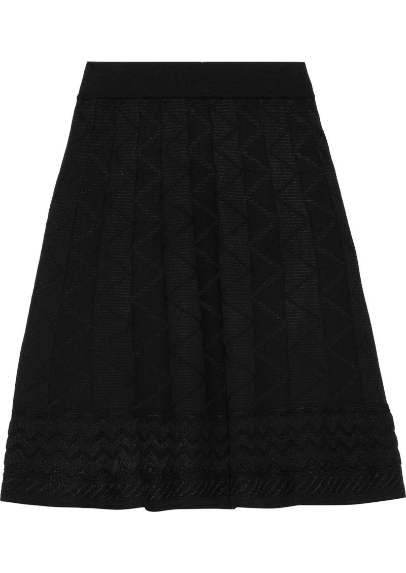 M Missoni Woman Crochet-knit Wool-blend Mini Skirt Black