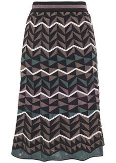 M Missoni Woman Crochet-knit Wool-blend Skirt Mushroom