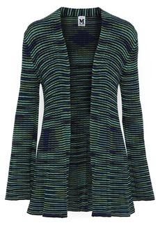M Missoni Woman Crochet-knit Wool Cardigan Light Green