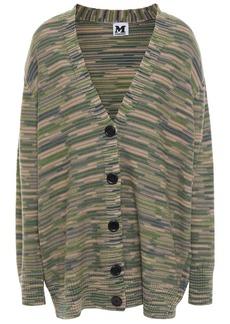 M Missoni Woman Crochet-knit Wool Cardigan Sage Green