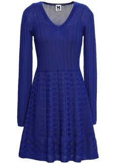M Missoni Woman Crochet-knit Wool-blend Dress Royal Blue