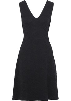 M Missoni Woman Cutout Crochet-knit Cloqué Dress Black