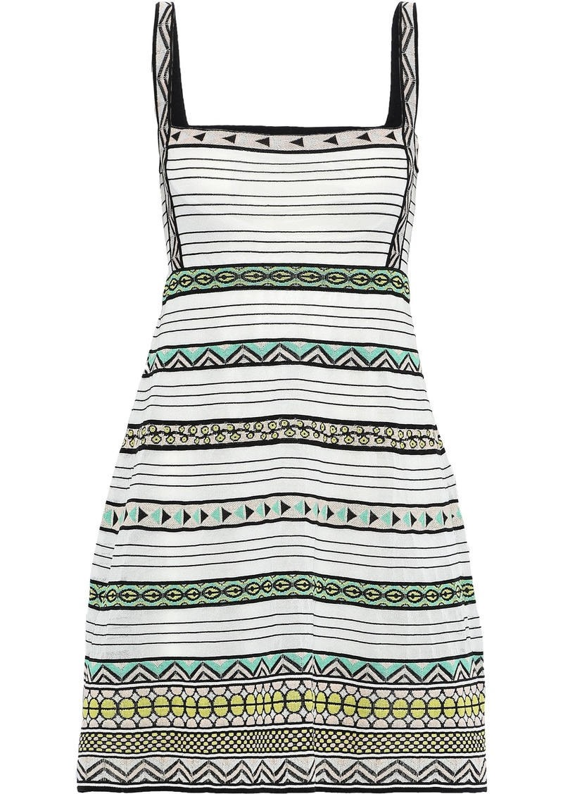 M Missoni Woman Cutout Crochet-knit Mini Dress Off-white
