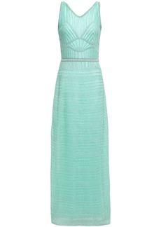 M Missoni Woman Cutout Metallic Crochet-knit Maxi Dress Turquoise