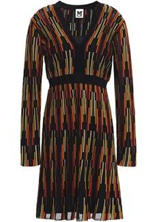 M Missoni Woman Flared Crochet-knit Dress Black