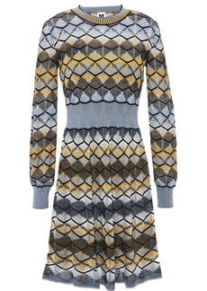M Missoni Woman Flared Crochet-knit Wool-blend Mini Dress Multicolor