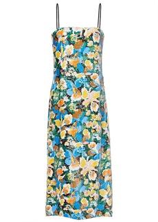 M Missoni Woman Floral-print Sequined Stretch-knit Midi Dress Multicolor