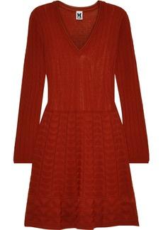 M Missoni Woman Flared Crochet-knit Wool-blend Mini Dress Crimson