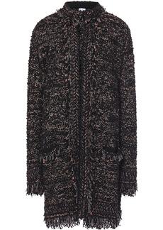 M Missoni Woman Frayed Metallic Bouclé-knit Coat Black