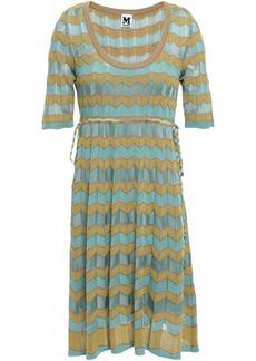 M Missoni Woman Crochet-knit Dress Grey Green