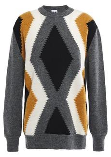 M Missoni Woman Intarsia Wool Sweater Dark Gray