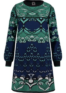 M Missoni Woman Jacquard-knit Mini Dress Jade