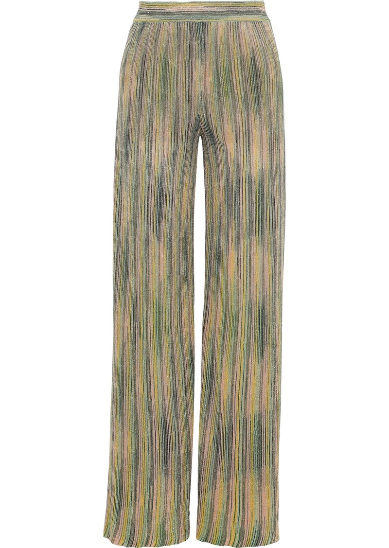 M Missoni Woman Knee Length Skirt Sage Green
