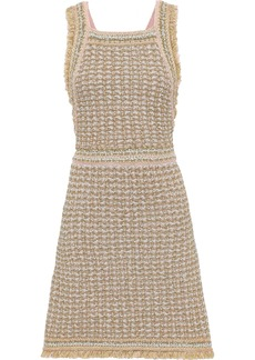 M Missoni Woman Metallic Bouclé-knit Dress Gold