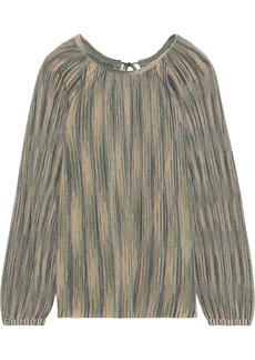 M Missoni Woman Metallic Crochet-knit Blouse Multicolor