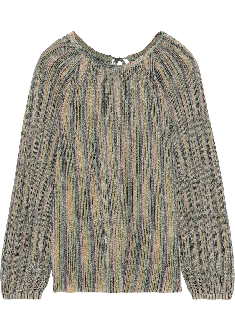 M Missoni Woman Metallic Crochet-knit Blouse Multicolor