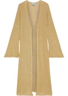 M Missoni Woman Metallic Ribbed-knit Cardigan Gold