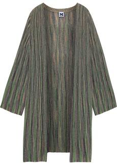M Missoni Woman Metallic Crochet-knit Cardigan Green