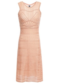 M Missoni Woman Metallic Crochet-knit Dress Antique Rose