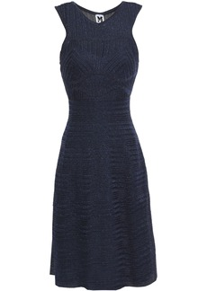 M Missoni Woman Metallic Crochet-knit Dress Navy