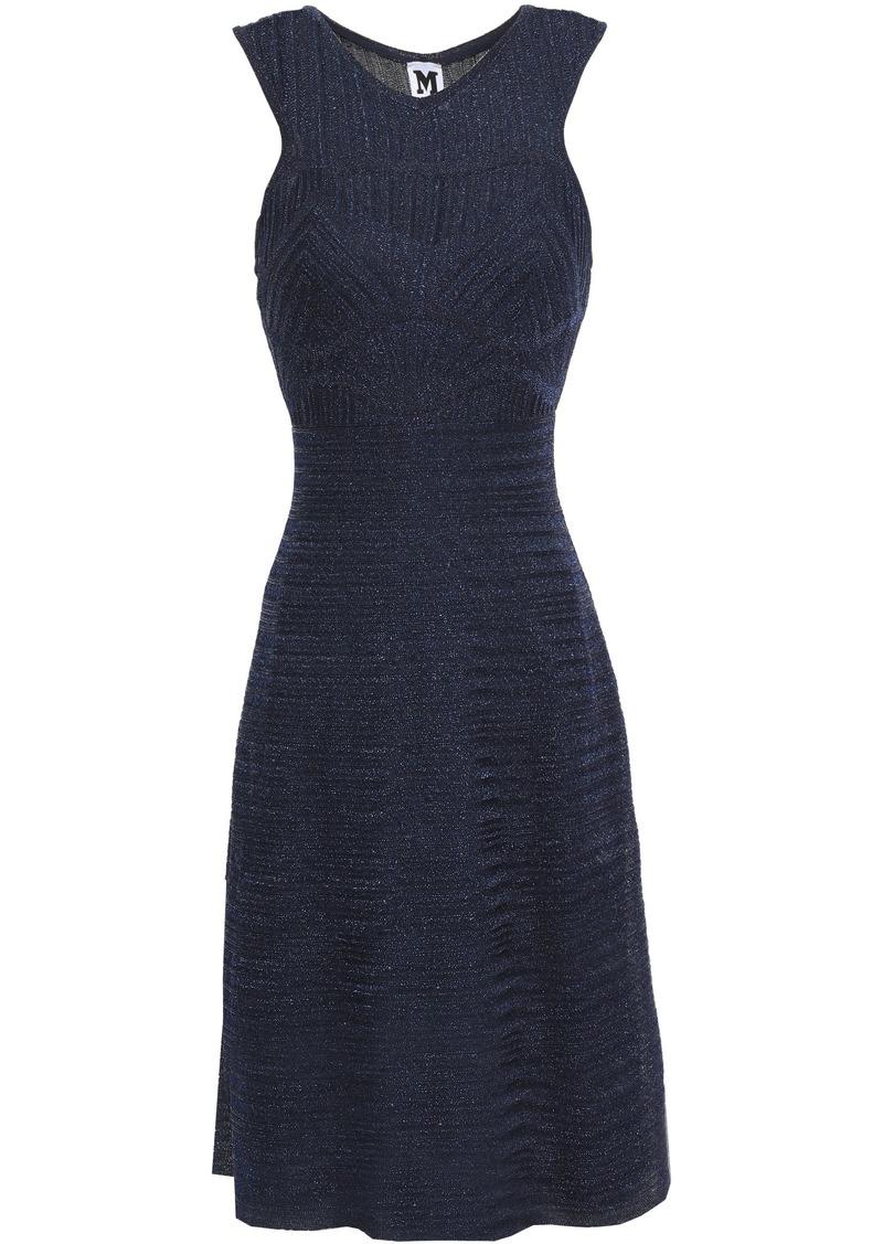 M Missoni Woman Metallic Crochet-knit Dress Navy