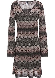 M Missoni Woman Metallic Crochet-knit Dress Black