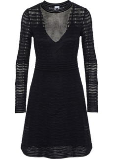M Missoni Woman Metallic Crochet-knit Dress Black